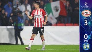 PSV Eindhoven 3-0 BATE Borisov - GOLES Y RESUMEN - UEFA Champions League Play-Offs