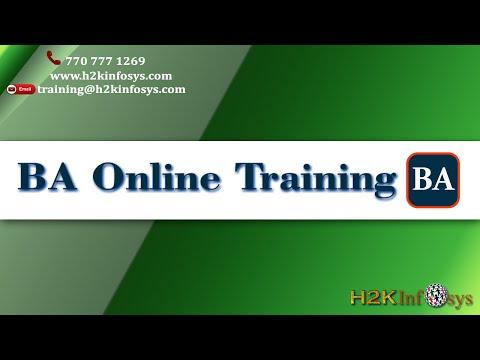 BA Online Training