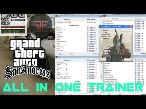 GTA: San Andreas All In One Trainer For Pc || Gadget FreaX ||