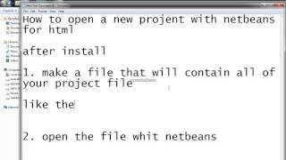 How to open a html project with netbeans