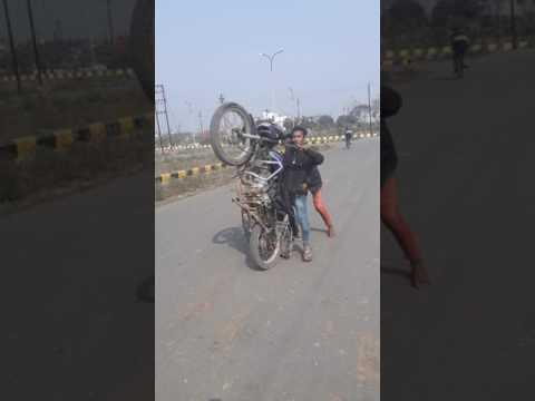 Adnan bike stunt shine