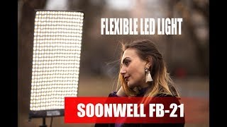 Lighting an outdoor portrait with Soonwell FB-21 flexible led light