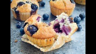 藍莓乳酪鬆餅 (優格馬芬)食譜 簡單做法  Blueberry Yogurt Muffins Recipe