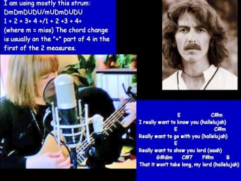 My Sweet Lord, George Harrison - chords, lyrics, tabs for slide part