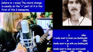 My Sweet Lord, George Harrison - chords, lyrics, tabs for slide part