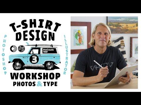 Designing T-Shirt Graphics in Procreate, Photoshop & Illustrator - T-Shirt Design Workshop 3