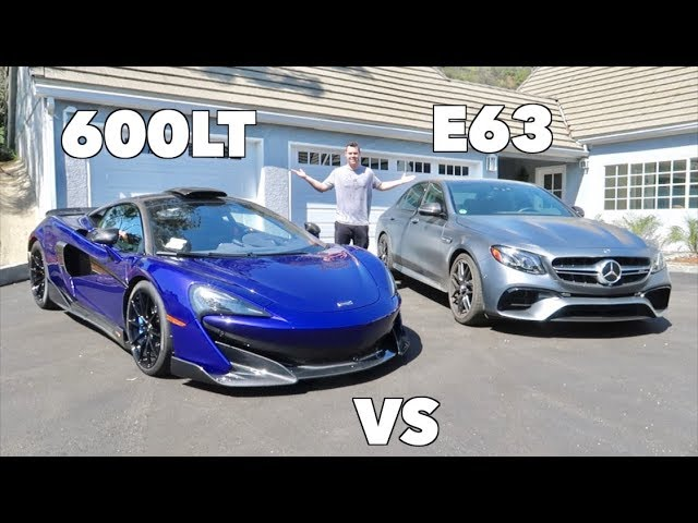 RACING MY MCLAREN 600LT AGAINST THE E63S AMG!
