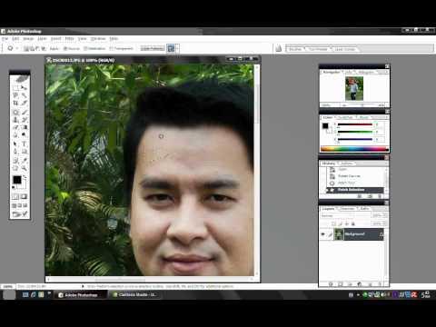 การใช้โปรแกรม Adobe Photoshop ตกแต่งภาพบุคคล