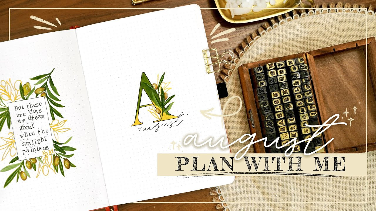 Download August Bullet Journal Plan With Me | BuJo Set Up August 2021