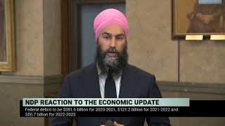 NDP Leader Jagmeet Singh on the fall economic statement – November 30, 2020