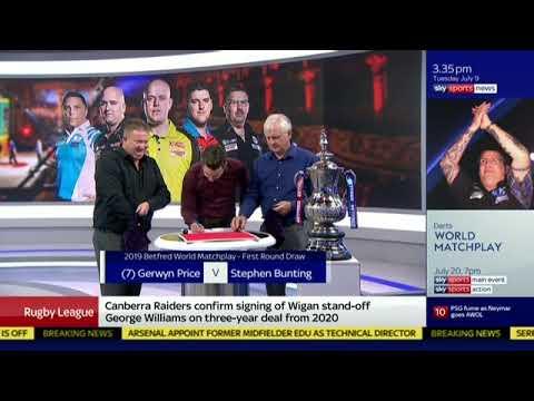 2019 World Matchplay Darts Draw Results July 20 28