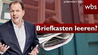 Wie oft muss man den eigenen Briefkasten leeren? | Rechtsanwalt Christian Solmecke