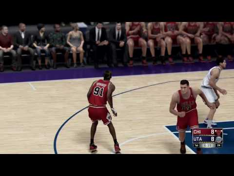 NBA 2K17 (PS4) 98 Chicago Bulls vs 98 Utah Jazz Full Game Simulation Nation