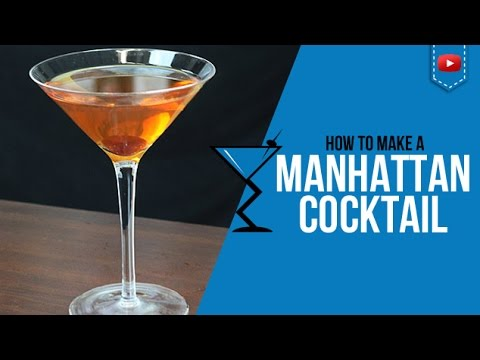 Manhattan Cocktail - How to make a Manhattan Cocktail Recipe by Drink Lab (Popular)