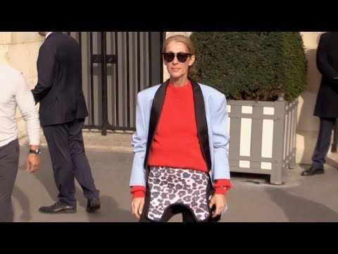 EXCLUSIVE : Celine Dion shopping at Repetto and Wolford in Paris