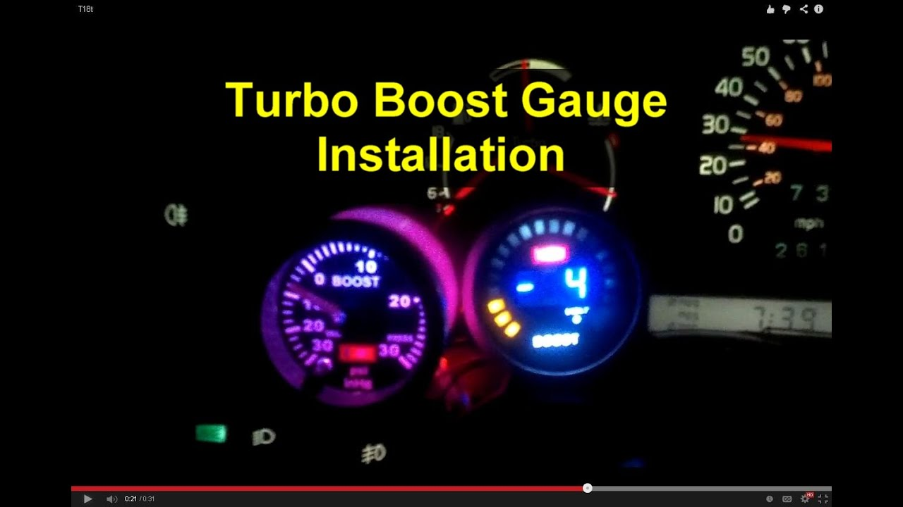 110 Schematic Wiring Diagram How To Install A Turbo Boost Gauge Votd Youtube