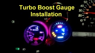 How to install a turbo boost gauge - VOTD(Turbo Boost Gauge Install: 15 - 30 minutes ($15 / $110) I purchased a boost gauge from eBay for $16 shipped. It offers multiple back light colors, is easy to install ..., 2014-09-19T15:45:13.000Z)