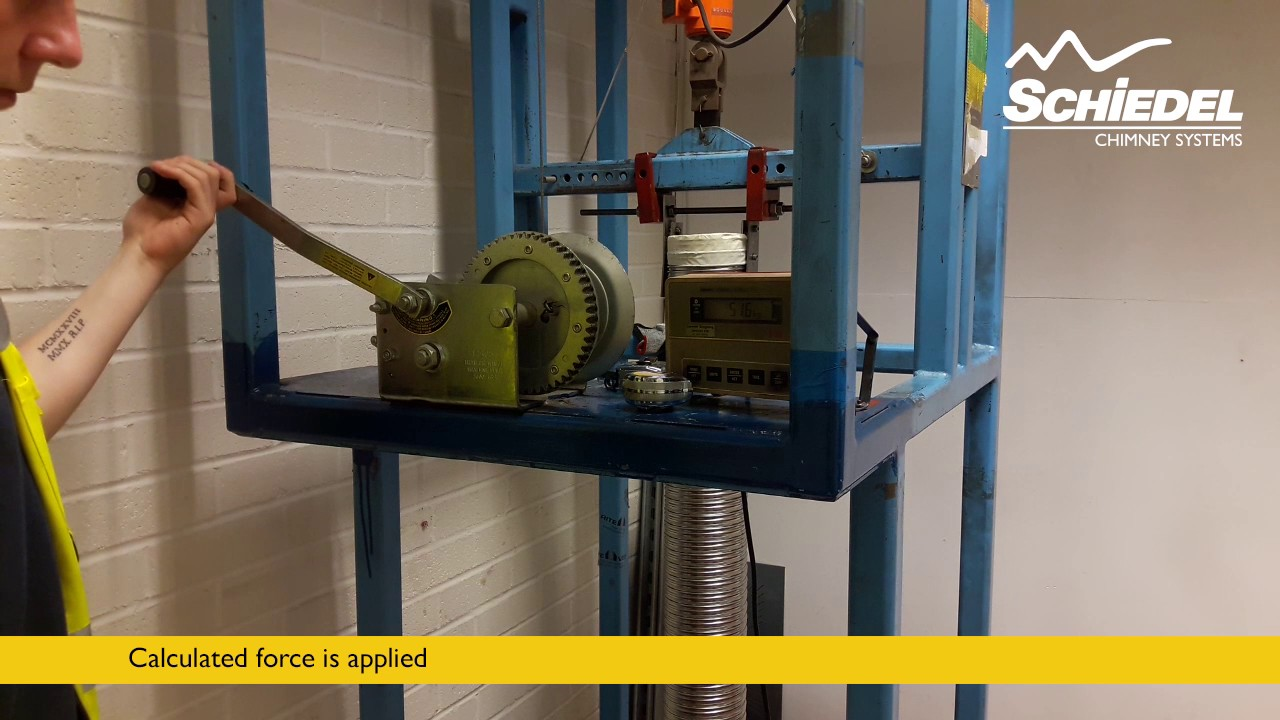 Safety Testing a Flexible Chimney Flue Liner
