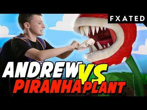 Piranha Plant Ate My Homework! // Andrews Games #18   FXated   Child Superhero With Superpowers