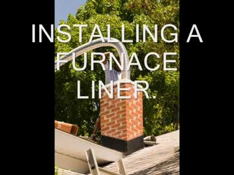 Installing A Furnace Chimney Liner Youtube