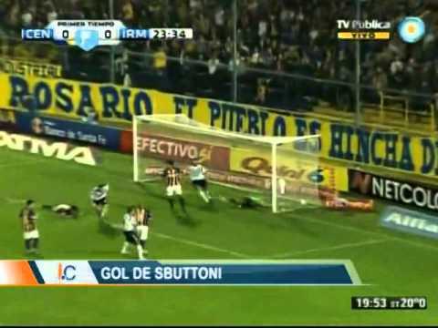 Gol Franco Sbuttoni - Rosario Central 2-2 Independiente Mdz.