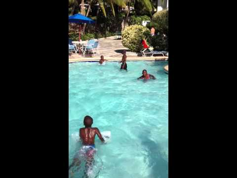Swimming in Haiti