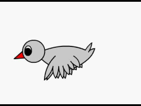 Animasi Burung Bergerak Juan Armstrong Smk Kanaan Menggunakan