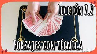 Forzar una carta con técnica - Lección 7.2   Curso de magia con cartas   Aprende magia en 7 minutos