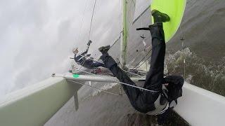 Spannende momenten op de NACRA 5.5 catamaran