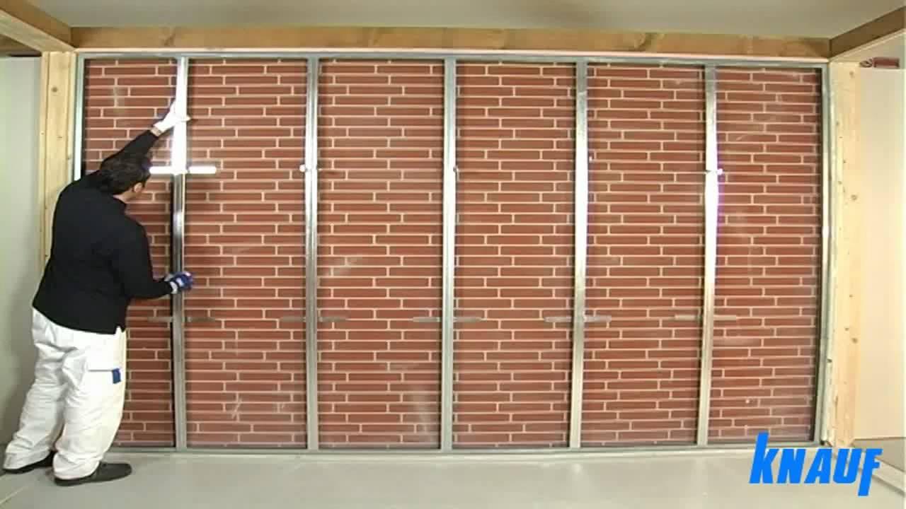 Contropareti collegamento a muro con struttura in cartongesso - coimperTV - Y...