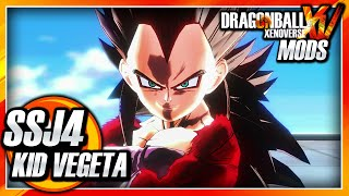 Dragon Ball Xenoverse PC: Super Saiyan 4 Kid Vegeta (GT) Mod Gameplay + Budokai 3 Music