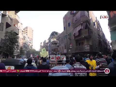 رصد | جانب من مسيرة مسجد النور المحمدى الرافضة للانقلاب العسكري بإمبابة