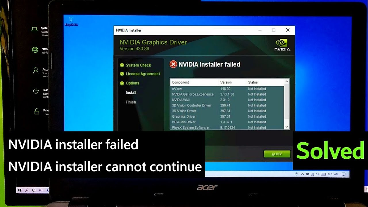 How to fix NVIDIA installer failed | NVIDIA installer cannot continue  Windows 10