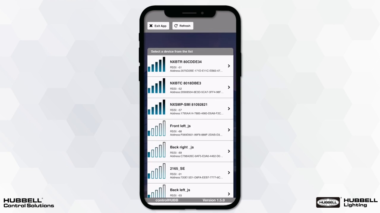 Controlhubb Mobile App Nx Room Setup Tool Hubbell Control Solutions