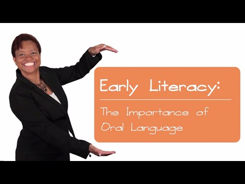 the importance of oral language Young children's oral language development children learn the specific variety of language (dialect) that the important people around them speak.
