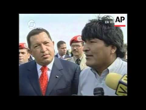 Morales to discuss nationalisation of oil, gas resources with Chavez