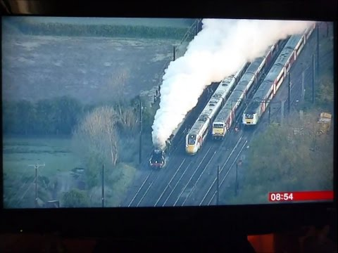 """""""Four Trains at York"""" Flying Scotsman, 125, 225, and Azuma 800, 23/4/ 17"""