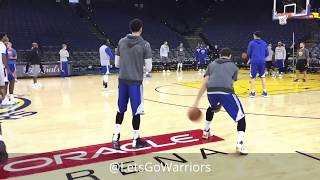 Views from Golden State Warriors (0-0) practice/shooting, day before Cavs Game 1 2017 NBA Finals