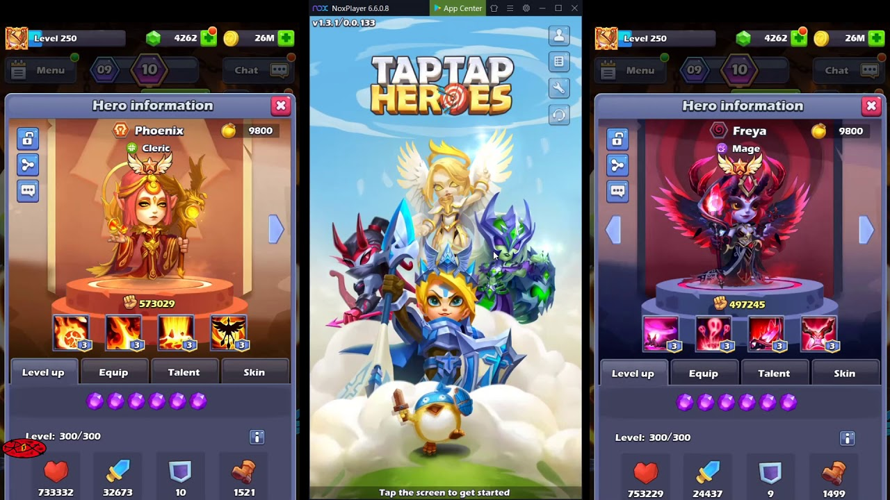 Taptap Heroes - Trying to finish bingos on two acc.