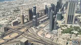 Dubai At the Top of Burj Khalifa - Timelapse (240fps slow mo)
