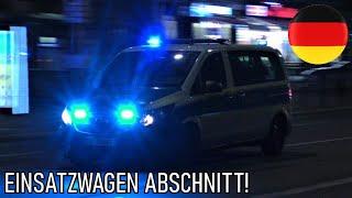 2x Einsatzwagen Abschnitt Polizei Berlin auf Einsatzfahrt in Berlin