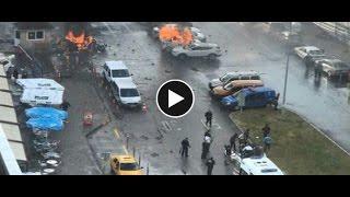 İzmir Adliyesi'nde patlama çatışma polisin vurulma anı patlaması saldırısı videosu izle son dakika