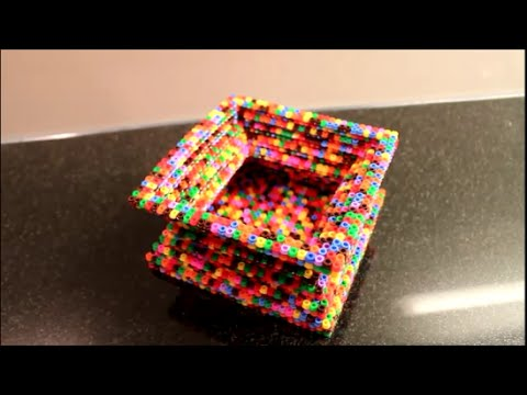 diy b gelperlen 3d vase bertopf schale skulptur steckperlen hama ikea perlen youtube. Black Bedroom Furniture Sets. Home Design Ideas