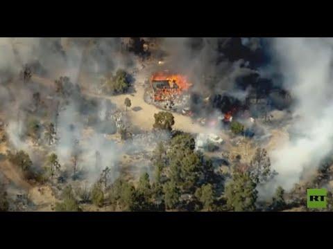 حريق هائل في كاليفورنيا يلتهم منازل  - نشر قبل 6 ساعة