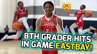 "6'5"" Jamier Jones Is Not Your NORMAL 8TH GRADER! Flexes His Bounce With In Game EASTBAY & More! 🚀"