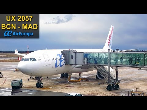 FLIGHT EXPERIENCE | Barcelona - Madrid | AIR EUROPA A330