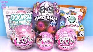 Unboxing Surprise Toys LOL Glam Glitter Eye Spy Hatchimals Disney Dolls Blind Bags