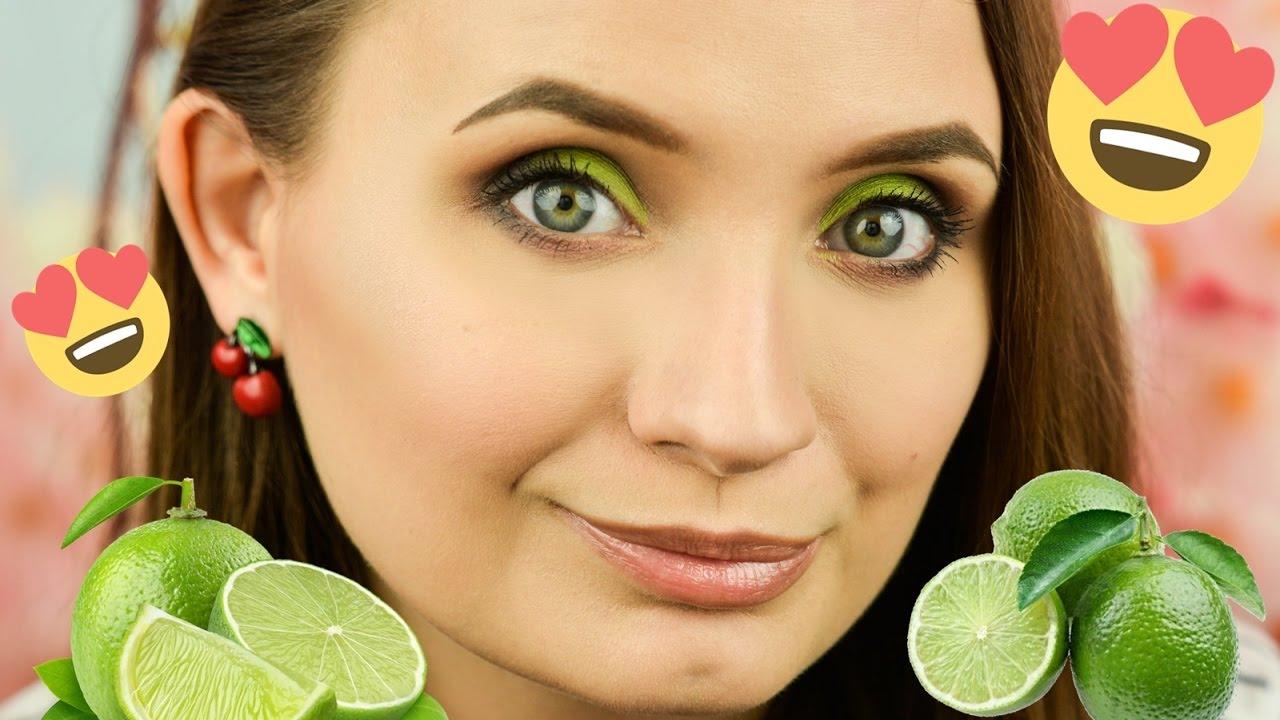 Makijaż z limonką i koralem