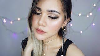 Soft Gold Smokey Cut Crease - Makeup Tutorial (BAHASA INDONESIA) | Rachel Andrea Christy