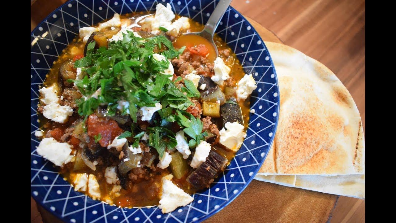 Турецкая кухня,баклажаны с фаршем!